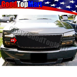 For Chevy Silverado 1500 2006 2500 3500 2005 06 Replacement Black Mesh Grille