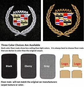 1964 1975 Cadillac Deville 4 Piece Floor Mats With 2 Front Logos Cl