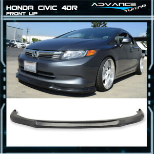 Fits 12 Honda Civic 4dr Sedan Ikon Front Bumper Lip Spoiler Usdm Model Pu