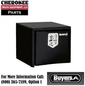 Buyers Products 1703349 14x12x18 Black Steel Underbody Truck Box