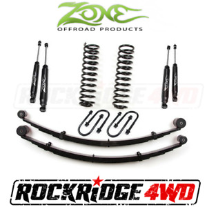 Zone 3 Suspension Lift Kit W Rear Springs Jeep Cherokee Xj 84 01 Dana 35 Rear