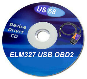 Driver Cd Disk Software Dvd V1 5 Elm327 Obd2 Usb Diagnostic Scanner Us68