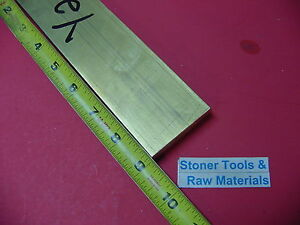 1 2 X 2 C360 Brass Flat Bar 9 Long Solid 500 Plate Mill Stock H02
