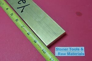 1 2 X 2 C360 Brass Flat Bar 10 Long Solid 500 Plate Mill Stock H02