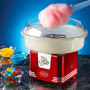 Red Mini Cotton Candy Maker Machine Lifesaver Hard Candy Floss Sugar Spinner