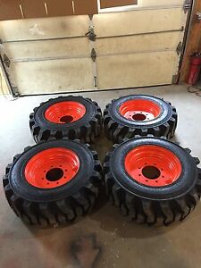 4 Galaxy Muddy Buddy 12 16 5 Skid Steer Tires Rims wheels For Bobcat 12x16 5
