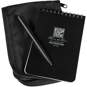 Rite In The Rain 746b kit All weather Universal Spiral Notebook Kit Black