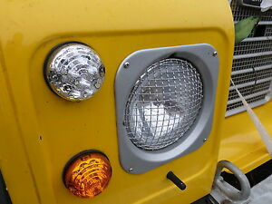 Land Range Rover Classic Stainless Headlamp Light Stone Guards Protectors X2