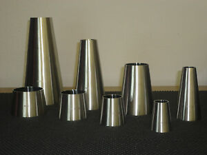 One Lot Of 4 Sanitary Stainless Steel Weld Concentric Reducer 2 X 1