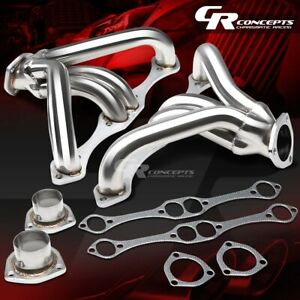 For Small Block Hugger 262 400 V8 Angle Plug Exhaust Manifold Tight Fit Header