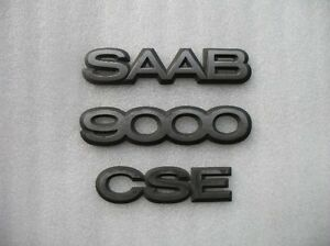 1995 Saab 9000cse 9000 Cse Rear Trunk Emblem Logo Decal Set 93 94 95 96 97 98