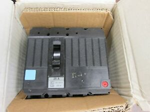 Ge Circuit Breaker Tedh6a025 25a 3p New Surplus
