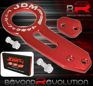 For Honda Jdm Sport Tow Hook Heavy Duty Cnc Aluminum Towing Haul Hitch Kit Red