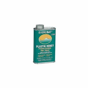 Fiberglass Evercoat 1249 Plastik Honey Plastic Auto Body Filler Thinner 1 Pint
