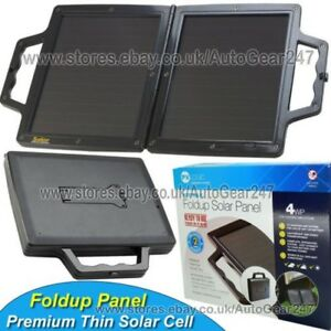 Car Motorhome Leisure 4wp Briefcase Fold Up Solar Panel Battery Trickle Charger