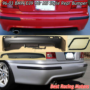 M Style Rear Bumper Cover Pp Single Exhaust Fits 96 03 Bmw E39 5 Series