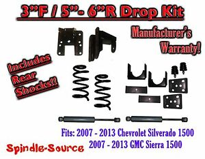2007 13 Chevy Silverado Gmc Sierra 1500 V8 3 5 3 6 Drop Kit Coil Shocks