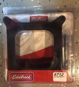 Edelbrock 8712 Carb Open Spacer 4 barrel Square Bore 2 Phenolic Fast N Free