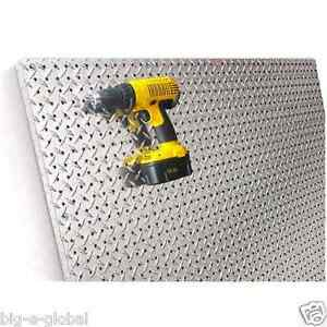 Commercial Grade Metal Pegboard 4 X 4 Panel Diamond Plate Fit Standard Hooks