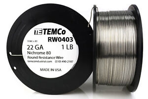 Temco Nichrome 80 Series Wire 22 Gauge 1 Lb 546ft Resistance Awg Ga