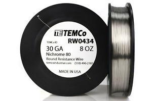 Temco Nichrome 80 Series Wire 30 Gauge 8 Oz 1748ft Resistance Awg Ga