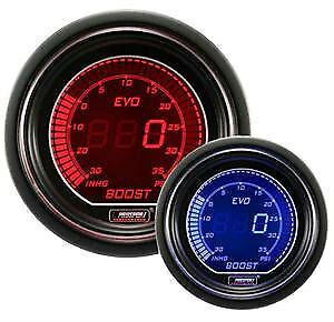 Prosport Evo Series 52mm Digital Boost Turbo Gauge Red Blue