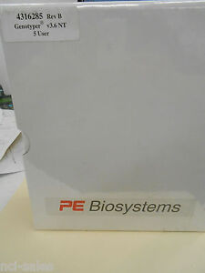 Sealed Abi Prism Pe Biosystems 4316285 Rev b 5 User Genotyper V3 6 Nt Software