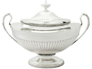 Antique Victorian Sterling Silver Soup Tureen Adams Style