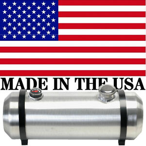 10x33 Spun Aluminum Gas Tank 10 75 Gallons With Sight Gauge And Baffle Welded