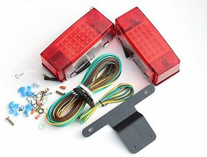 Over 80 Trailer Light Stop Turn Tail Rear Side Reflector Side Marker Led W Kits