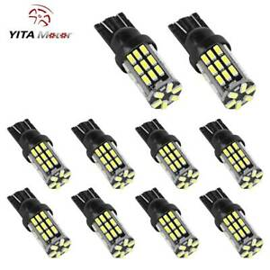 10x 6000k White T10 42 Smd Led Backup Reverse Light Bulbs W5w 194 192 921 2825