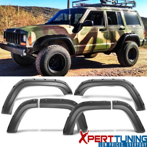 Fit Jeep Cherokee Xj 1984 2001 Fender Flares Pocket Style Wheel Cover Abs 8pc