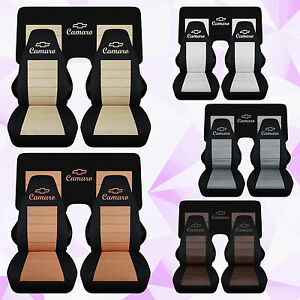 Cc 1982 1992 Camaro Front And 3 Piece Rear Car Seat Covers Color Choic Chevrolet