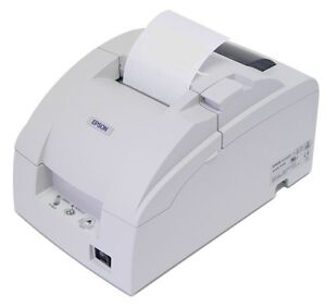 Epson Tm u220b Receipt Kitchen Printer serial rs232 C31c514653 White In Color