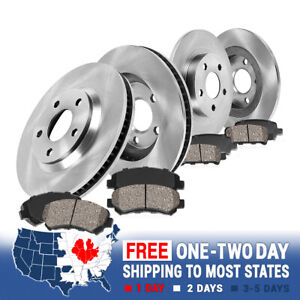 Front Rear Brake Rotors Ceramic Pads For 2003 2004 2005 2006 2007 Jeep Liberty