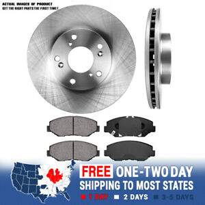 Front Brake Rotors And Ceramic Pads Honda Accord Civic Cr V Element Coupe Sedan