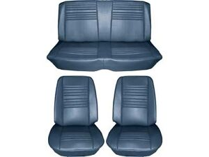 1967 Chevelle Standard Seat Upholstery Full Set Bright Blue Convertible