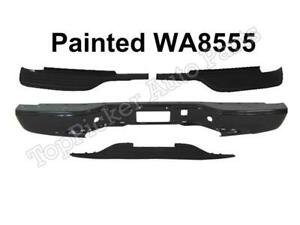 Painted Black Rear Bumper Top Center Pad For 99 07 Silverado 2500hd Fleetside