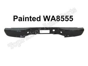 New Painted Black Wa8555 Rear Bumper Bar For 99 07 Silverado Sierra Fleetside