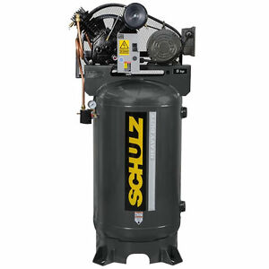 5 Hp 3 Phase 80 Gallon 175 Psi 20 Cfm Schulz Air Compressor