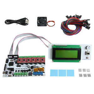 Rumba Controller Board Kits Atmega2560 With A4988 Lcd2004 For Prusa 3d Printer