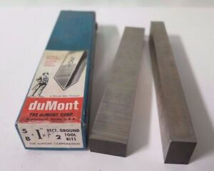 2 New 5 8 X 1 X 7 Rectangular Ground Lathe Tool Cutting Hss Bits Dumont Usa