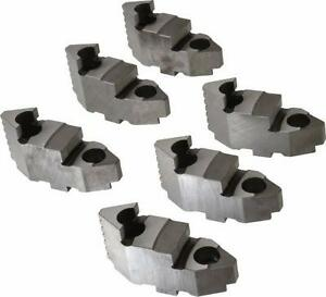Bison Lathe Chuck Hard Top Jaw For Scroll 12 In 6 jaw 6 Piece Set 7 883 612