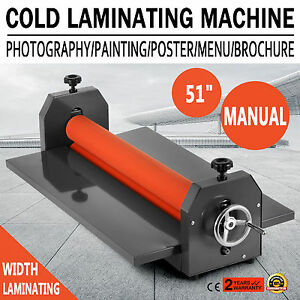 51 Laminating Manual Mount Machine Cold Photo Vinyl Film Laminator New