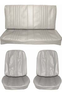 1970 Chevelle Standard Seat Upholstery Full Set Coupe Parchment Pearl Metallic