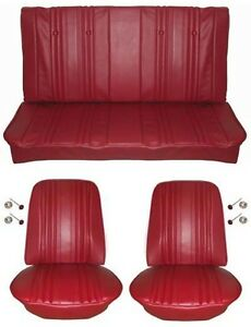 1969 Chevelle Standard Seat Upholstery Full Set Convertible Red