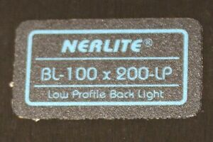 Nerlite Bl 100 X 200 lp Low Profile Back Light Red Led Vps ii Variable Ps