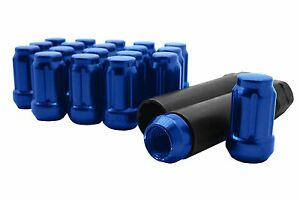 20pc Blue Spline Tuner Lug Nuts 1 2 20 Threads Works On Aftermarket Wheels