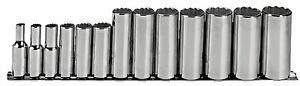 Proto J52112 3 8 Drive 13 Piece Deep Socket Set 12 Point 1 4 1 Made In Usa