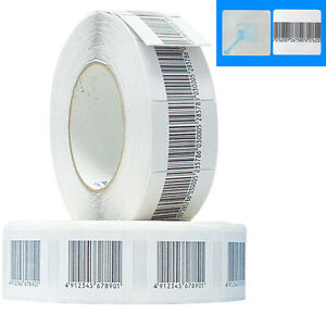 2 000 Checkpoint Compatible 8 2 Rf Labels 3x3cm Size Fake Barcode